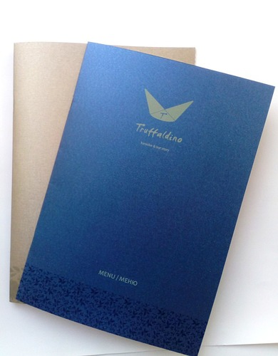 """Меню для """"Truffaldino"""" УФ-печать на дизайнерской бумаге"""
