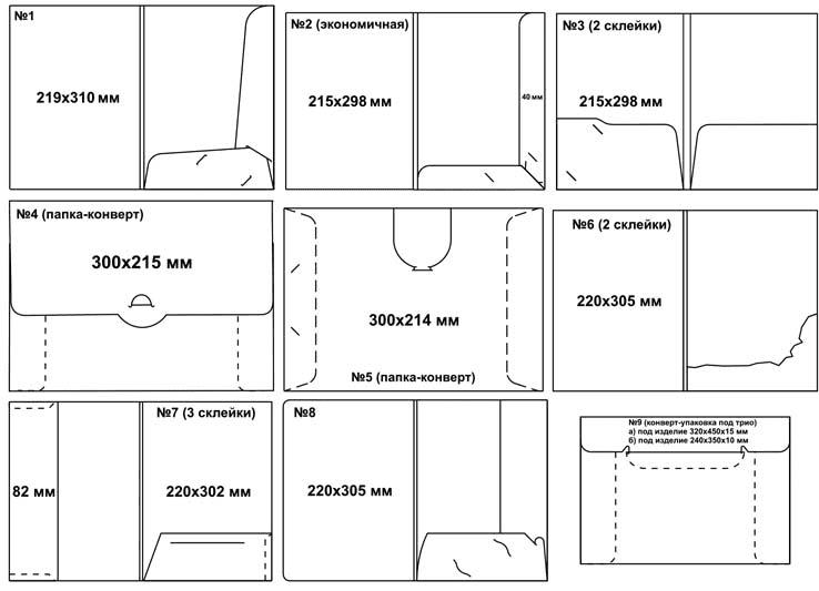 Вырубка папок в типографии Allprint